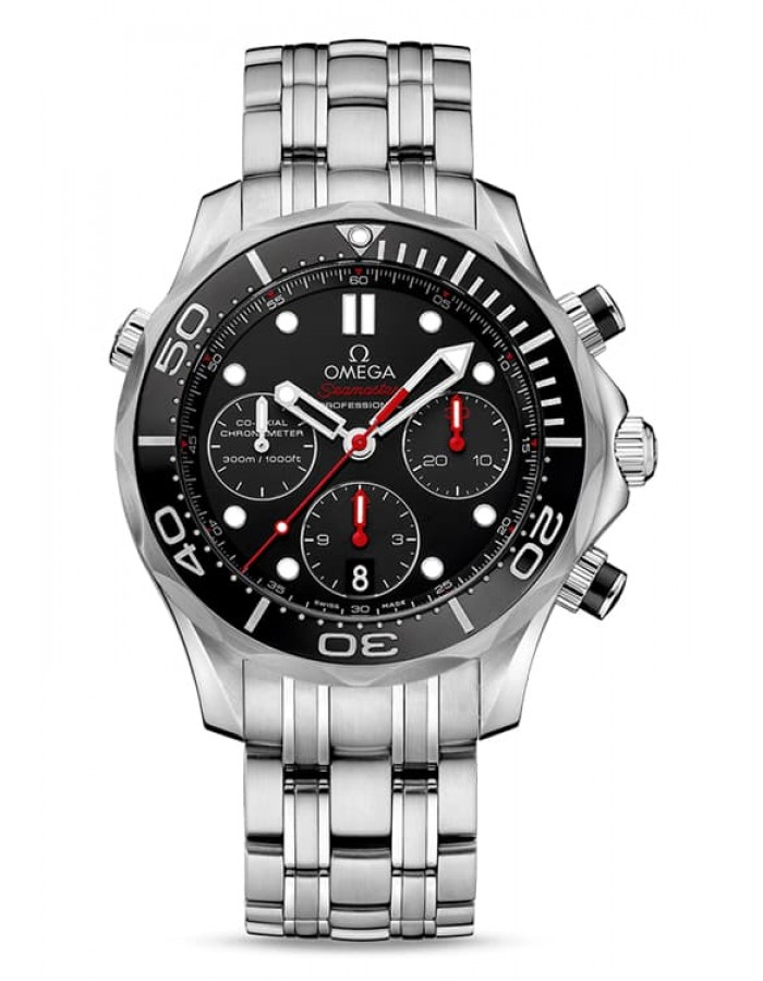 Omega Seamaster Chronograph Black By Malabar Watches