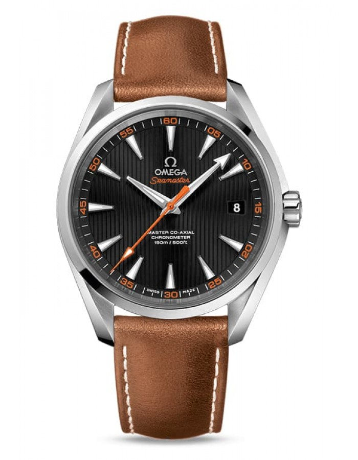 Omega Seamaster Leather Black By Malabar Watches