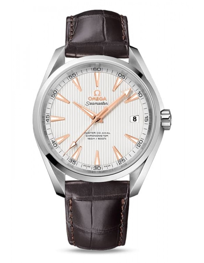 Omega Seamaster Aqua Terra Leather Silver By Malabar Watches