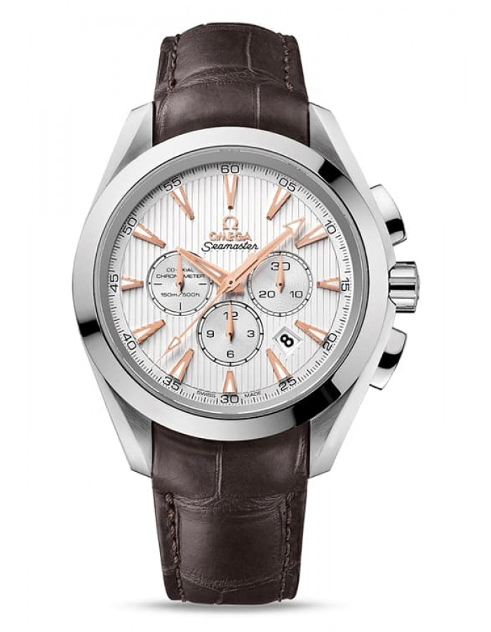 Omega Aqua Terra Leather Silver By Malabar Watches