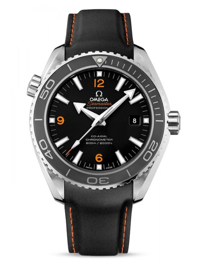 Omega Planet Ocean Leather Black By Malabar Watches