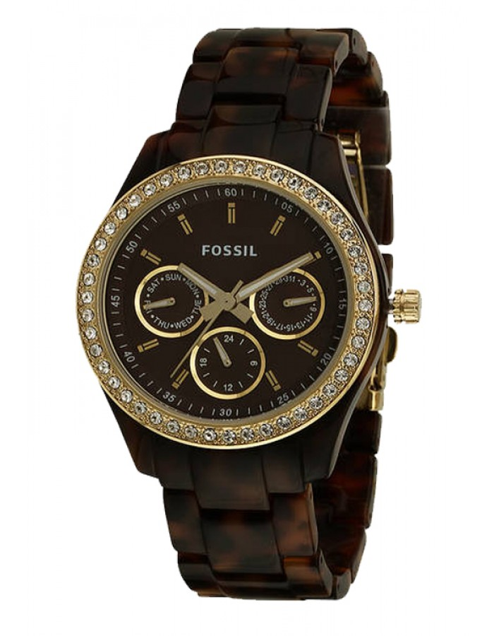 Fossil Stella Silicon Brown By Malabar Watches