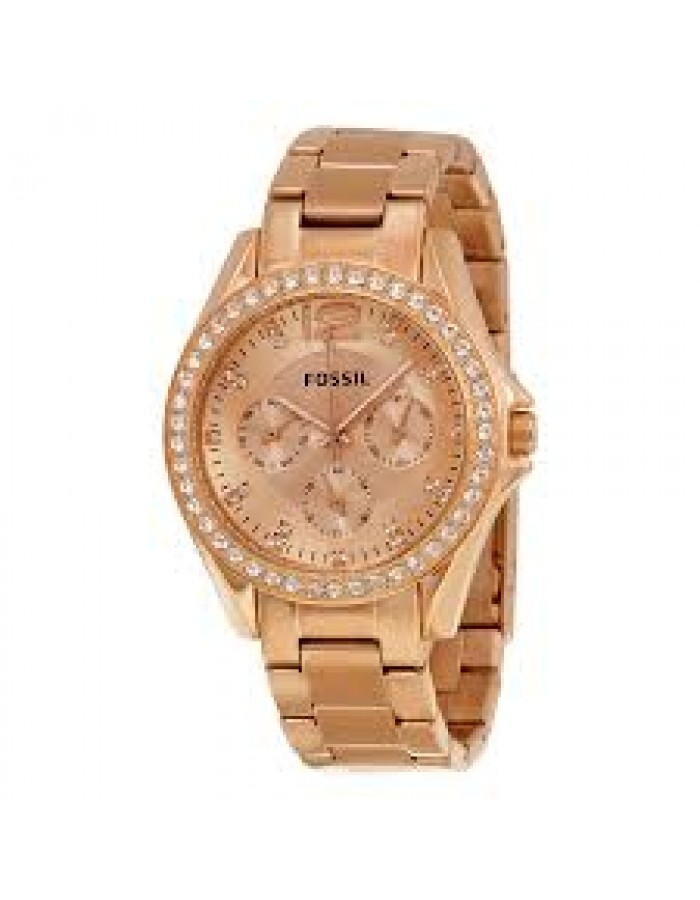 Fossil Es2811 Gold Plated By Malabar Watches