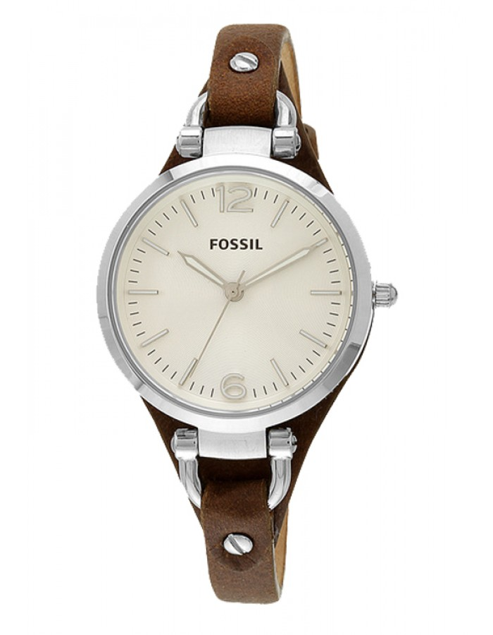 Fossil Georgia Leather White By Malabar Watches