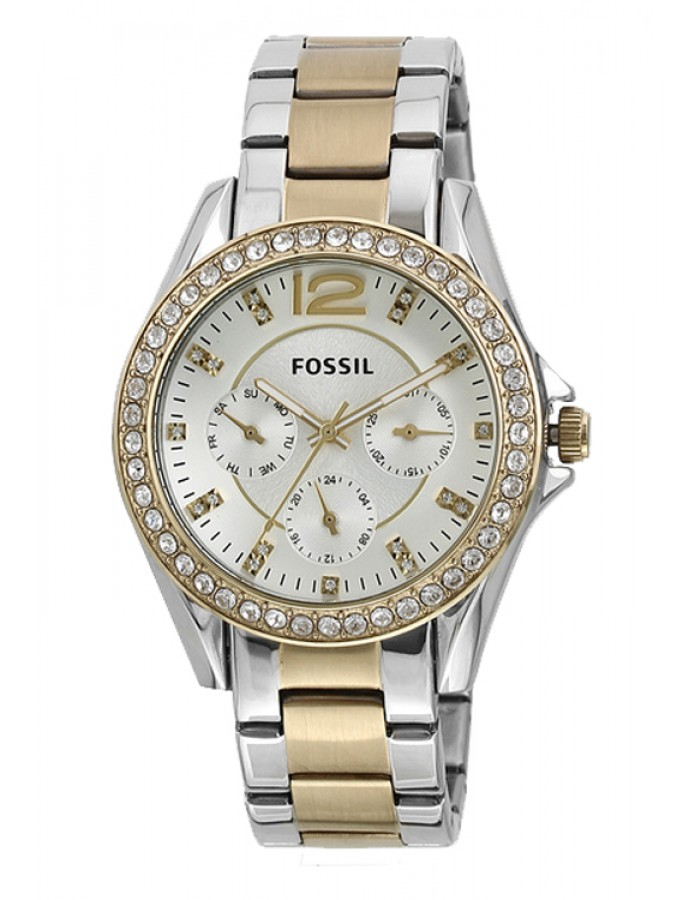 Fossil Riley Two Tone Silver By Malabar Watches