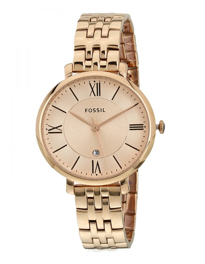 Fossil Jacqueline Gold Plated By Malabar Watches