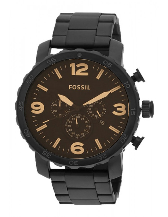 Fossil Nate Steel Brown By Malabar Watches