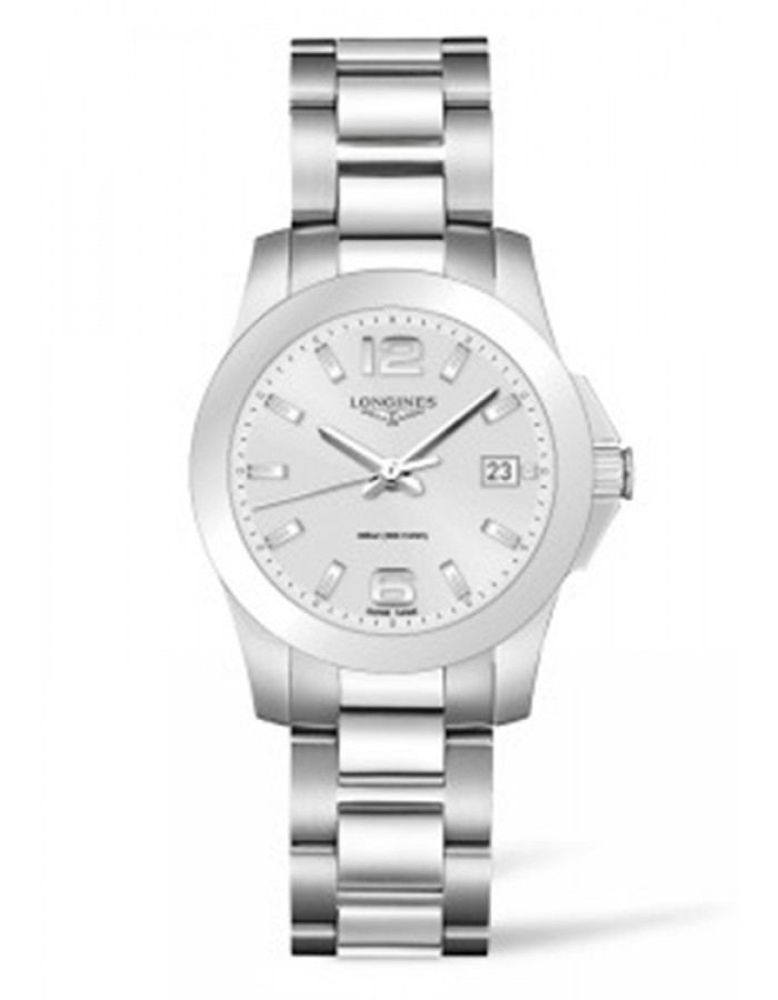Longines L3.377.4.76.6 Silver By Malabar Watches