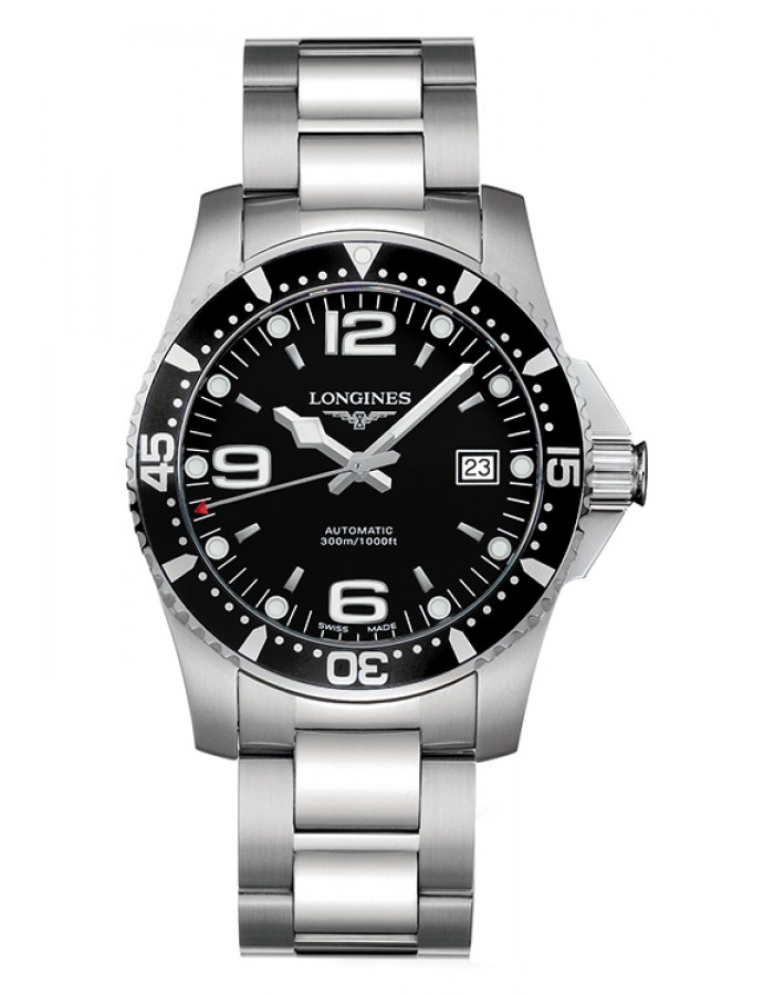 Longines  Hydro Conquest Black By Malabar Watches
