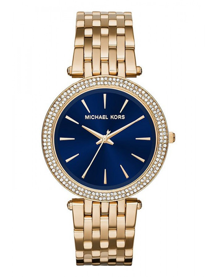 Michael Kors Darci Blue Gold Plated By Malabar Watches