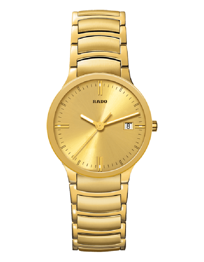 Rado Centrix Champange Gold Plated By Malabar Watches