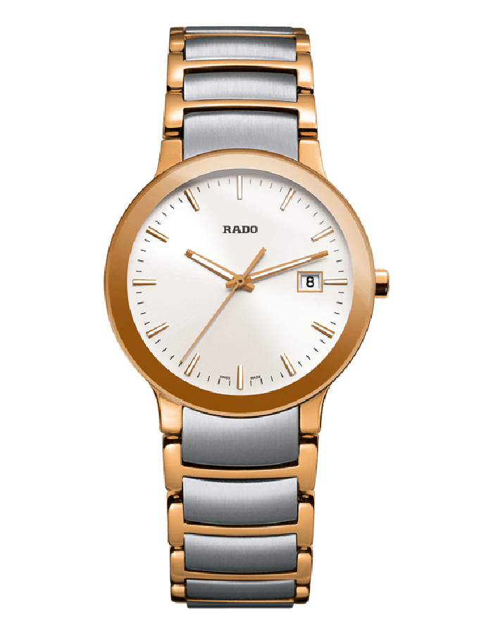 Rado Centrix White Gold Plated By Malabar Watches