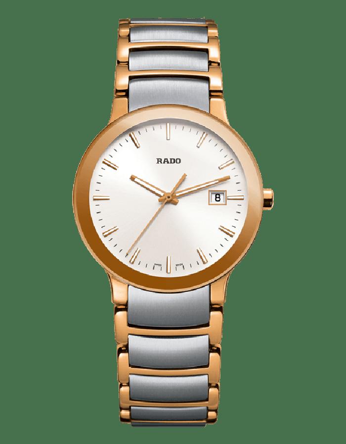 Rado Centrix White Gold Plated By Malabar Watches