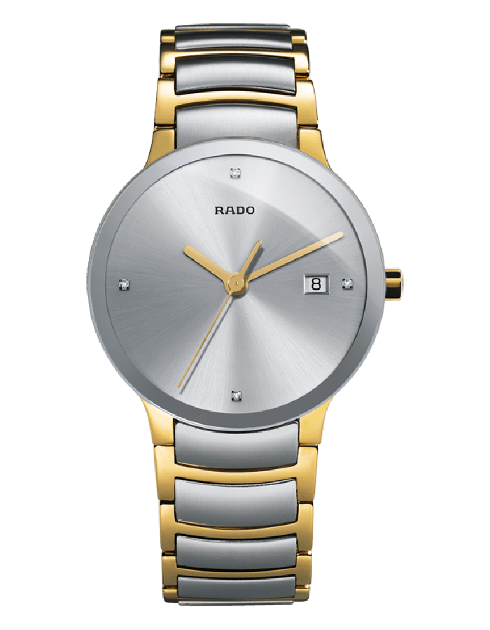 Rado Centrix Silver Two Tones By Malabar Watches