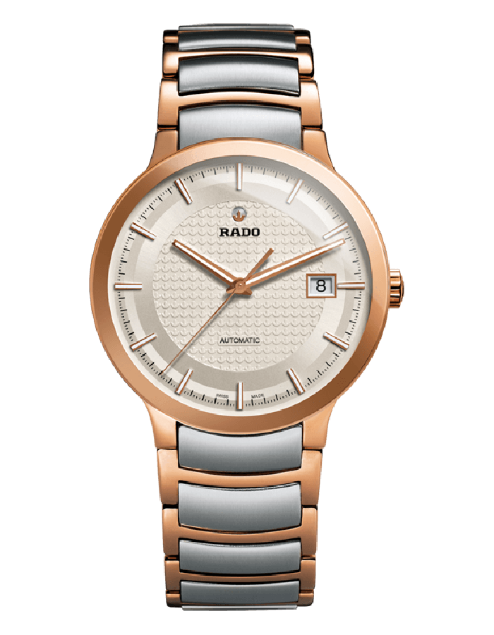 Rado Centrix Silver Gold Plated By Malabar Watches