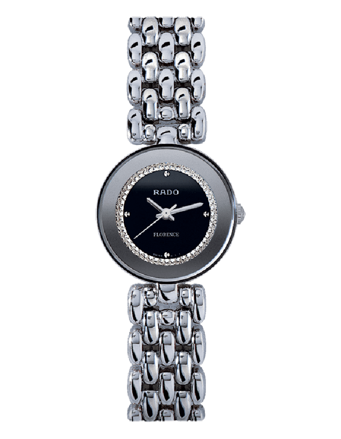 Rado Florence Balck Steel By Malabar Watches
